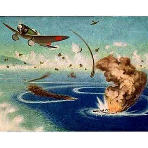 日本軍初の米船空爆